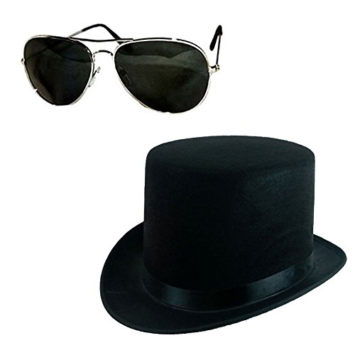 Felt Top Hat and Sunglasses Set for Slash Costume.