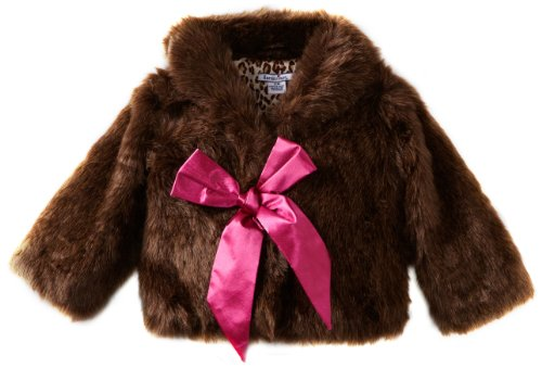 Review: Hartstrings Baby-girls Infant Frosted Faux Fur Jacket, Brown, 18 Months  Review