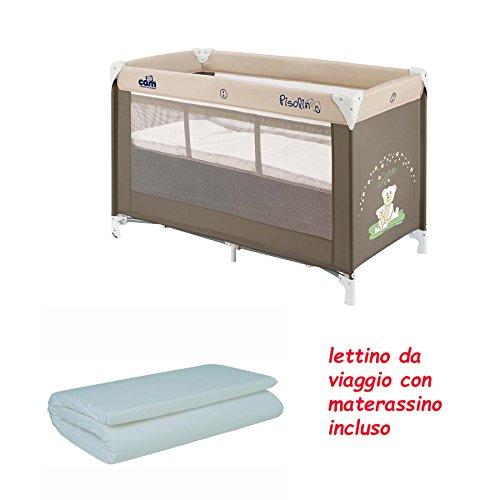 LETTINO DA VIAGGIO PISOLINO CAM + MATERASSINO ARROTOLATO PER LETTINO DA VIAGGIO WILLY & CO. (100 ORSETTO)