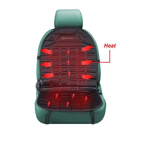 Zento Deals 12V Heated Car Seat Cushion Premium Quality Adjustable Temperature Heating Pad Pain Reliever (Truck Seat Heater compare prices)