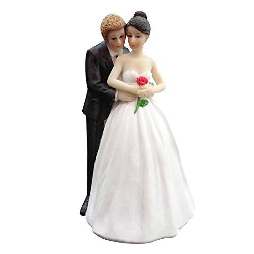 yepmax Romantic Wedding Cake Toppers figurines couple 2.8 X 2.8 X 5.3 Inch Review