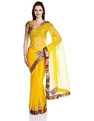 Boondh Net Saree With Blouse Piece - B00NZ33830