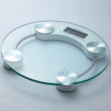 Scandinavia Round Digital Glass Bathroom Scale