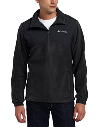 Columbia Men's Tall Steens Mountain Tech Full Zip Fleece Jacket, Black, Large/Tall