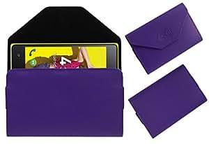 Acm Premium Pouch Case For Zen Ultrafone 402 Play Flip Flap Cover Holder Purple