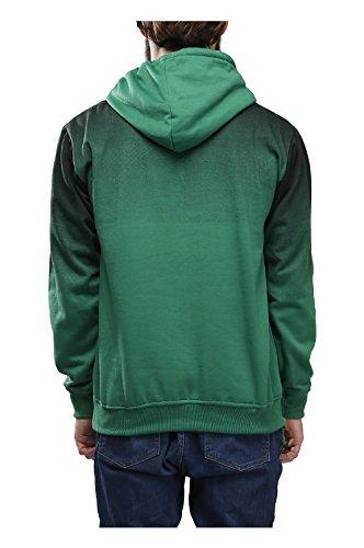 High Hill's Mens Green Hooded Sweatshirts