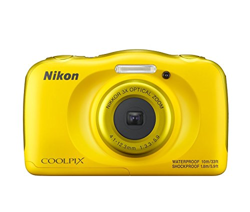 Nikon-Coolpix-W100-132-MP-Point-and-Shoot-Digital-Camera-Yellow-with-3x-Optical-Zoom-8GB-Memory-Card-and-Camera-Case
