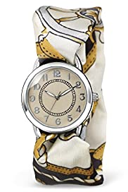 Round Face Interchangeable Scarf Watch