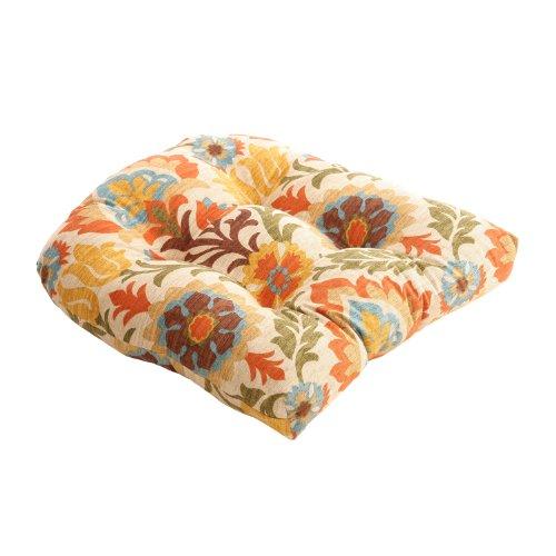 Pillow Perfect Santa Maria Chair Cushion, Adobe photo