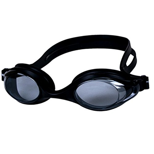 Little Cherry Adjustable Clear lens Non Fogging Anti-UV Eyewear,Pro Performance Unisex Adult Swim Goggle with Case (Black)