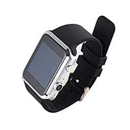 PowerLead Pwah A9S Bluetooth Smart Watch For Apple iPhone IOS & Android Smart Phone With 2 Million Camera Support Gsm / Gprs 850/900/1800/1900 Black