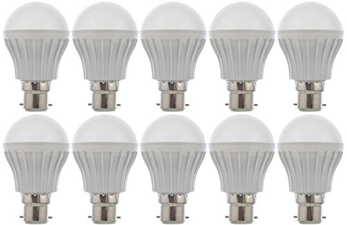 Rainz-Gold-5W-B22-LED-Bulb-(White,-Pack-of-10)