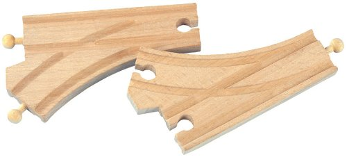 Maxim Toy Train Wooden Curved Switch Track (2 Pieces) : 50907 - 1