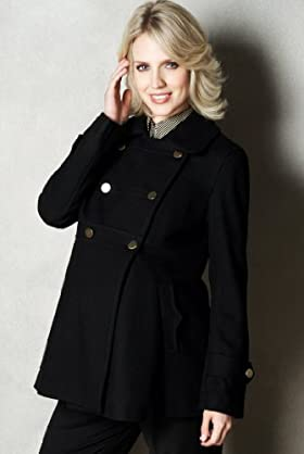 Maternity Wool Blend Double Breasted Swing Coat