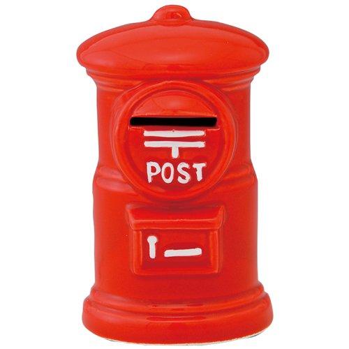 ポスト貯金箱(赤) [11.6x6.8x6.8cm] 置物 インテリア