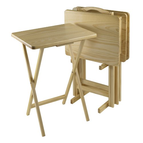 Winsome 5-Piece Tv Table Set, Rectangular, Natural