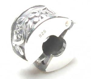 Flower Vine Clip .925 Sterling Silver Bead Charm Stopper/Spacer Pandora Chamilia Biagi & European Bracelets Compatible