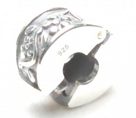Flower Vine Clip .925 Sterling Silver Bead Charm