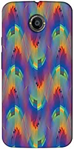 Timpax protective Armor Hard Bumper Back Case Cover. Multicolor printed on 3 Dimensional case with latest & finest graphic design art. Compatible with only Motorola Moto - X-2- 2nd Gen. Design No :TDZ-21213