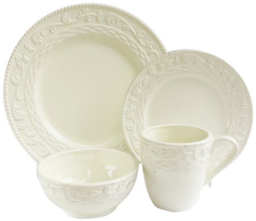 American Atelier Atria 16-Piece Dinnerware Set, Cream