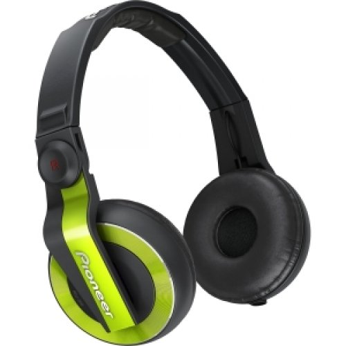 Pioneer Hdj-500-G / Hdj-500 Dj Headphones - Stereo - Green - Mini-Phone - Wired - 45 Ohm - 5 Hz 28 Khz - Gold Plated - Over-The-Head - Binaural - Circumaural - 3.94 Ft Cable