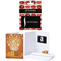$50 Sephora Gift Card and a $10 Amazon.com Gift Card in a Greeting Card