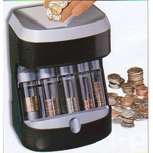 Motorized coin sorter money bank coin sorters and counters office products - Sorting coin bank ...