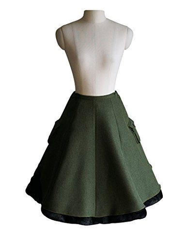 Exclusive-Vintage-Designer-Military-Lolita-Steampunk-Double-Layer-Uniform-Skirt