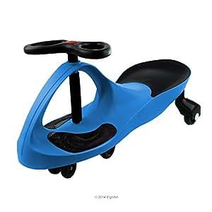 EIGHTBIT Swivel Car Rolling Ride On Car - Indoor / Outdoor - Blue