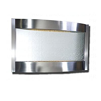 Bluworld Contempo Falls Large Horizontal Stainless Steel with Silver Mirror Indoor Wall Water Fountain - CLHSSM