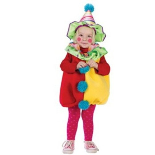 Red & Yellow Toddler Clown Costumes (< 24 Mos)