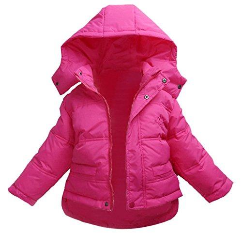 La vogue Rosarot Kinder Baby Daunen Mantel Jacke Winterjacke Mantel L