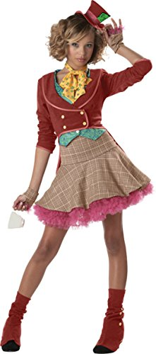 Girls The Mad Hatter Jr Kids Child Fancy Dress Party Halloween Costume