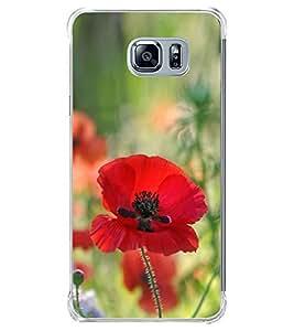 Red Flower 2D Hard Polycarbonate Designer Back Case Cover for Samsung Galaxy Note5 :: Samsung Galaxy Note5 N920G :: Samsung Galaxy Note5 N920T N920A N920I