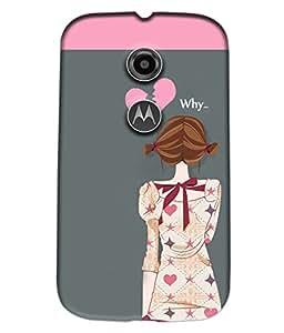 Fuson Sad Girl Back Case Cover for MOTOROLA MOTO E2 - D3944