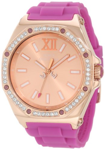 Juicy Couture Women's 1901029 Chelsea Purple Silicone Strap Watch
