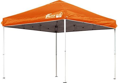 FIELDOOR 組立て簡単!! 2.5x2.5m ワンタッチタープテント オレンジ G03 (高耐水加工&シルバーコーティング/UVカットコーティング)