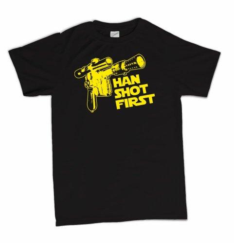 Han Shot First Funny Geek Geekery Nerd Cult Humor T-Shirt
