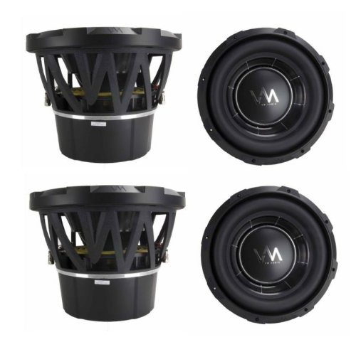 "4) Vm Audio Ecw100 Encore 10"" Competition Car Subwoofers Subs 2600W Dvc (4 Pack)"