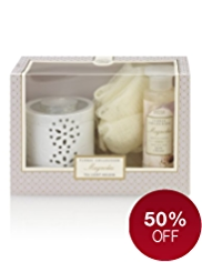 Floral Collection Magnolia Tea Light Holder Gift Set