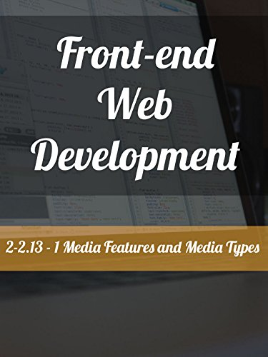 2-2.13 - 1. Media Features and Media Types