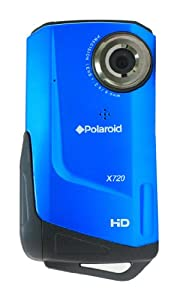 Polaroid X720E HD Waterproof Video Camera Micro SD with 3x Digital and 2 inch LCD - Aquatic Blue