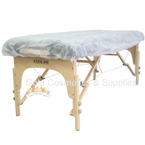 Compare Prices 100 Ct White Disposable Elastic Fitted Bed Sheets Cover Massage  Table Facial Chair Spa