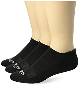 ASICS Cushion Low Cut Socks (3-Pack), Black, Medium
