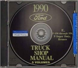 1990 FORD PICKUP BRONCO VAN REPAIR SHOP MANUAL CD Super Duty F150 F250