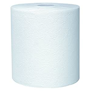 Kleenex Hard Roll Paper Towels (50606) with Premium Absorbency Pockets, White, 6 Rolls / Case, 3,600 feet