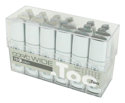 Copic Markers Wide 12 Set C And 12 Matching Inks Sketch