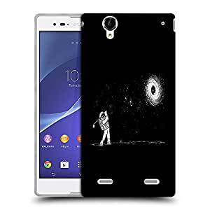 Snoogg Astronaut Playing Golf Designer Protective Back Case Cover For SONY XPERIA T2 ULTRA