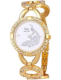 Watch Me White Metal Analogue Watch For Women WMAL-107-G