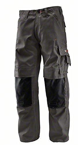 Bosch Professional 0618800201 WKT 010 Pantaloni con Ginocchiere ,Grigio, Taglia del produttore: 54